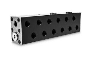 EK Water BlocksEK-Pro Manifold 2CPU 4GPU Verteiler Acetal, schwarz NEU in OVP