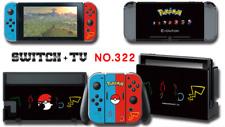 Nintendo Switch Console Joy-Con Skin Sticker Cover #322 Pokemon a F01