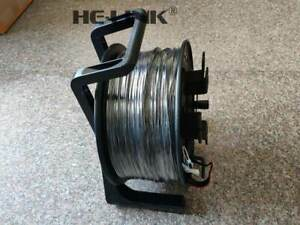 100M LC-LC Outdoor Armored OM3 MM 4 Strands with Fiber Tactical Cable Reel