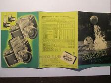 Prospekt  Exakta Varex   Dresden 1960er Jahre 6 Seiten auffaltbar