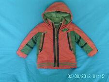 Boys 18-24 Months - Red/Green Waterproof Lined Hooded Coat - Catimini Designer