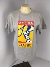 VTG 90s ADIDAS Acura Classic USA MADE Tennis Gray T-Shirt Youth Large L