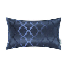 """CaliTime Cushion Throw Covers Pillows Shells Chains Accent Geo Reversible 12x20"""""""