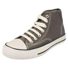 Scarpe grigi per bambini dai 2 ai 16 anni tela lacci