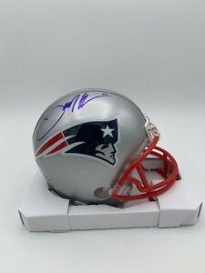 Julian Edelman Signed New England Patriots Mini Helmet COA & Holograms