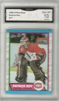 1989-90 O-Pee-Chee #17 Patrick Roy | Graded GEM MINT 10 | Montreal Canadiens
