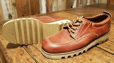 Vintage 1970s Levi's Orange Tab Leather Shoes Size 8 Super Clean!
