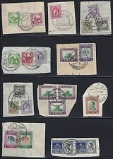 PALESTINE JORDAN 1950s COLECTION OF 23 FULL CANCELS OF WEST BANK & EAST BANK OF