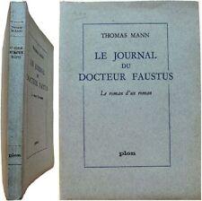 Le journal du Docteur Faustus 1962 Thomas Mann Préface Marcel Brion roman Faust