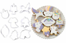 SFK Delish Treats Cookie Cutter - Unicorns decorating plunger mold baking tools