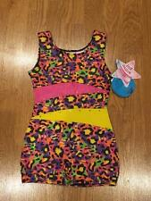 NWT Girls Unitard Leotard Size XS Extra Small 4/5 4 5 Orange Pink