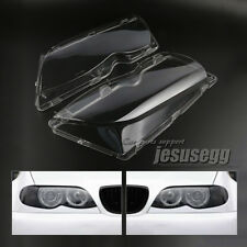 2x R+L Headlight Lens Cover PC Lampshade Lampcover For BMW E46 02-06 4D