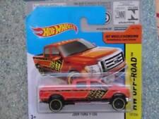 Voitures, camions et fourgons miniatures orange en acier embouti 1:64