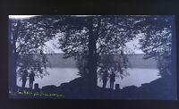 Auvergne Lac Pavin Foto Stereo Negativo Su Film Morbido 1914