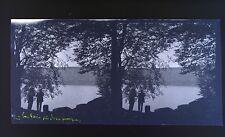 Auvergne Lac Pavin Photo stéréo négatif sur film souple 1914
