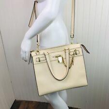 Calvin Klein Crossbody Handbag Purse Beige w/ Gold Hardware Includes Dust Bag