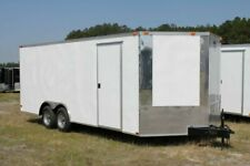 NEW 8.5 X 16 8.5X16 ENCLOSED CARGO CAR HAULER TRAILER - V-NOSE
