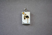 Beautiful, Unique, Handmade and Hand-painted Glass Pendant **Pelican2**