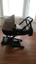 Baby girl boy lightweight Mutsy Igo grey pram & bag & mat beige pushchair & muff