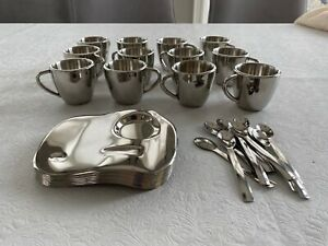 Stainless steel espresso cup set of 12