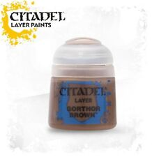 GORTHOR BROWN Citadel paint colore acrilico layer 12 ml Warhammer Games Workshop