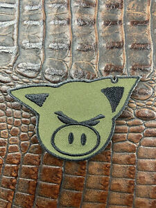 The Hate Project OD Green Ears Out Hate Pig Morale Patch