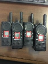TWO SETS MOTOROLA CLS1810T TARGET UHF 4CH TWO WAY BUSINESS RADIOS - USED
