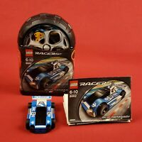 2005 Lego 8662 Racers Blue Car with Instructions