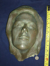 """Woman Girl Face Handmade Clay Art Wall Plaque Vintage old collectable @12"""""""