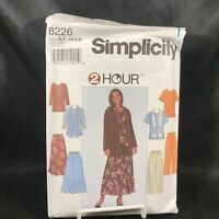 Vintage  Sewing Pattern SIMPLICITY Misses Top Pants Skirt and Scarf #8226