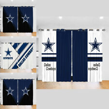 Dallas Cowboys 2PC Blackout Curtain Panels Bedroom Living Room Window Drapes
