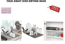 Polder Fold Away Dish Rack Mat Cutlery Knife Holder Roll Up Kitchen Storage