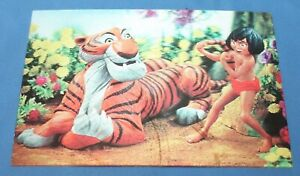VINTAGE DISNEY THE JUNGLE BOOK MOWGLI SHERE KHAN LENTICULAR 3D PICTURE POSTCARD