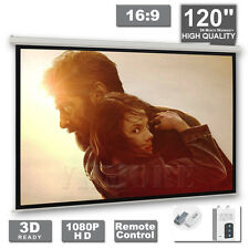 "120"" Electric Motorised Projector Screen Projection 16:9 Pure Home Theatre 3D TV"