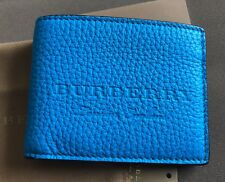 Burberry Men's Wallet / Neon Blue NWT! 2018!