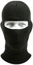 Black Wintuck Military One Hole Acrylic Face Mask USA Made