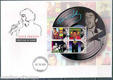 GUYANA ELVIS PRESLEY RECORD   SHEET  II  FIRST DAY COVER