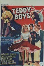 """""""TEDDY-BOYS (SERIOUS CHARGE)"""" Affiche belge entoilée 1959 Cliff RICHARD  40x59cm"""