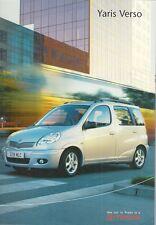 Toyota Yaris Verso 2003-05 UK Market Sales Brochure 1.3 1.4 D-4D T3 T Spirit
