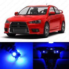 6 x Blue LED Interior Lights Package For 2008 - 2013  Lancer Evolution Evo X 10