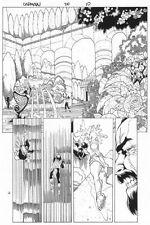 Captain Marvel #20 p.10 - Moondragon Action - 2001 art by Chris Cross Comic Art