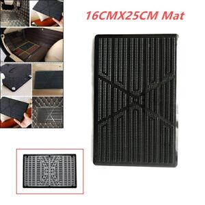Black Car SUV Floor Mat Carpet Scuff Guard Foot Rest Pedal Plate Pad Driver