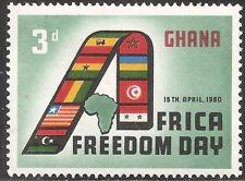 Ghana Stamp - Scott #75/A22 3p Green, Red & Black OG MNH 1960