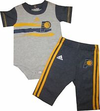 Grey /& Navy NBA Basketball Boys Infants Indiana Pacers Creeper and Pants Set