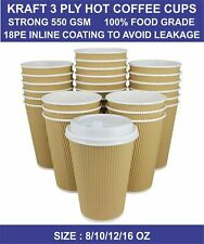 Disposable Coffee Cups Paper Cups Kraft Cups For Hot And Cold Drink Vending Cup
