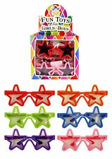 Child Star Shaped Glasses Loot Party Bag Fillers Kids Joke Summer Fun Dress Up