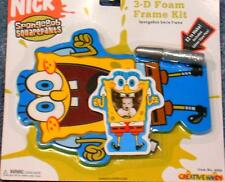 New Spongebob Squarepants - Make A 3-D Foam Frame Kit Factory Sealed Free Ship !