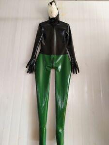 Latex Gummi Rubber Grün Suit Metallic Green Tights Casual Fashion Fitness XL