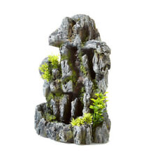 CLASSIC AQUARIUM ORNAMENT ROCK SAND FALL WITH PLANTS