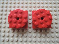 Lego 2 x PLatte Drehteller 3403c01 rot 4x4 6900 4552 6593